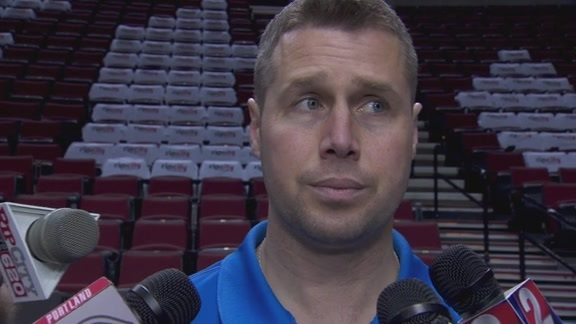 Game 3 Practice: Coach Joerger