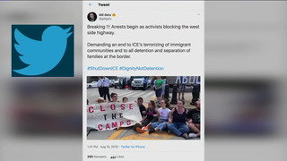 NY: 100 PROTESTERS ARRESTED AT ICE RALLY
